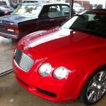 Bentley Eight mit Bentley Continental GTC im Vordergrund