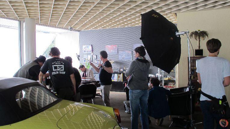 Filmarbeiten bei den Pinguinen Berlin